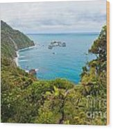 Tasman Sea At West Coast Of South Island Of New Zealand Wood Print