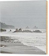 Tasman Sea At West Coast Of South Island Of Nz Wood Print