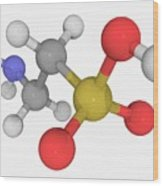 Taurine Molecule Wood Print