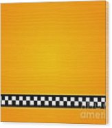 Taxi Background Wood Print