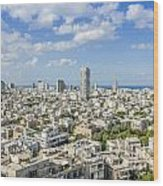 Tel Aviv Israel Elevated View Wood Print