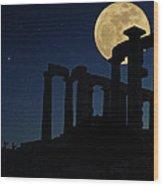 Temple Of Poseidon  Wood Print