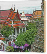 Temple Of The Dawn-wat Arun In Bangkok-thailand Wood Print