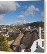 Thatched Cottages Near Dunmore Strand Wood Print