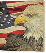 The American Eagle Wood Print