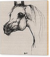 The Arabian Horse Wood Print