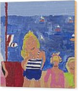 The Beach Girls Wood Print by Don Larison