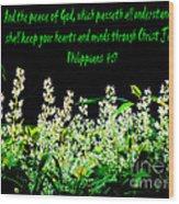 The Bible Philippians 4 Wood Print