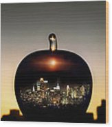 The Big Apple Wood Print by Etti PALITZ