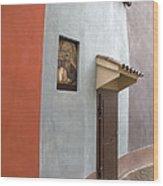 The Brown Door Wood Print