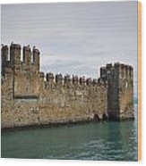 The Castle Of Sirmione. Lago Di Garda Wood Print