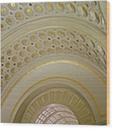 The Ceiling Of Union Station Wood Print