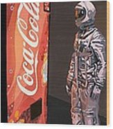 The Coke Machine Wood Print