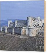 The Crusader Castle Krak Des Chevaliers Syria Wood Print