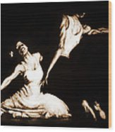 The Dancers-sepia Wood Print