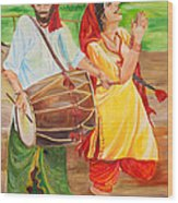 The Dhol Player Wood Print