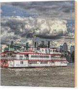 The Dixie Queen Paddle Steamer Wood Print