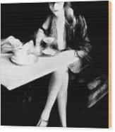 The Flapper Girl Wood Print