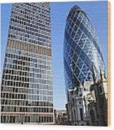 The Gherkin Building In London England Wood Print