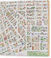 The Greenwich Village Map Wood Print