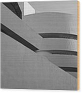 The Guggenheim In Black And White Wood Print