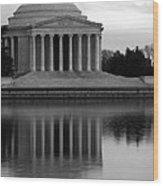 The Jefferson Memorial Wood Print by Cora Wandel