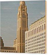 The Leveque Tower Of Columbus Ohio Wood Print