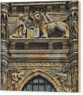 The Lion Of Venice Wood Print by Lee Dos Santos