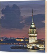 The Maiden's Tower Wood Print