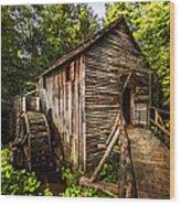 The Mill At Cades Cove Wood Print