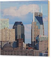 The Nashville Skyline As Viewed Wood Print