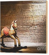 The Old Rocking Horse In The Attic Wood Print