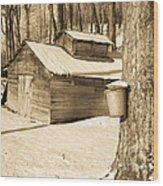 The Old Sugar Shack Wood Print