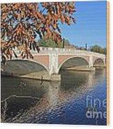 The River Thames At Hampton Court London Wood Print