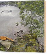 The Rowing Boat Wood Print