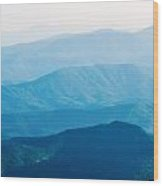 The Simple Layers Of The Smokies At Sunset - Smoky Mountain Nat. Wood Print