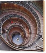 The Vatican Stairs Wood Print