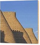 The Walls Of The Ark At Bukhara In Uzbekistan Wood Print