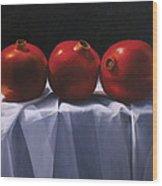 Three Pomegranates Wood Print