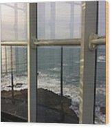 Through Lighthouse Window  Wood Print