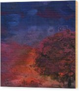 Through The Mist Wood Print by Jack Zulli