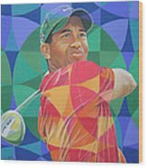 Tiger Woods Wood Print