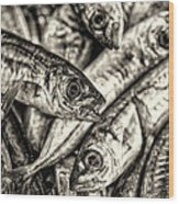 Tile Of Fishes Wood Print