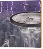 Time Travelers 2 Wood Print by Mike McGlothlen