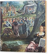 Tintoretto's The Worship Of The Golden Calf Wood Print