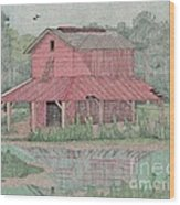 Tobacco Barn Wood Print by Calvert Koerber