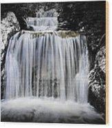 2 Tone Waterfall Wood Print