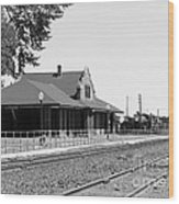 Toppenish Train Station Wood Print