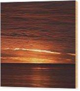 Torrey Pines Sunset Wood Print