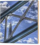 Tower Bridge And The Shard Wood Print